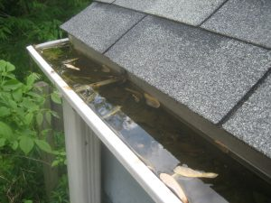 gutters full of water, gutter repair
