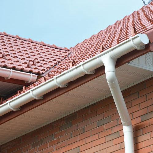 New White Gutter Repair for Residential Home